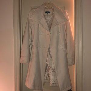 Like new off-white Long Coat